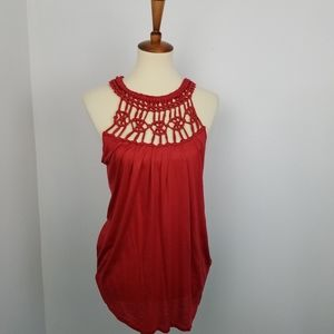 Banana Republic Crochet Neckline Tank Top